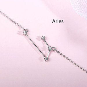 *NEW 925 Sterling Silver Zodiac Bracelet-Aries